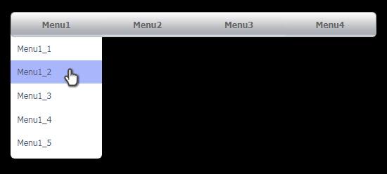 CSSだけで実装する横並びのプルダウンメニュー1