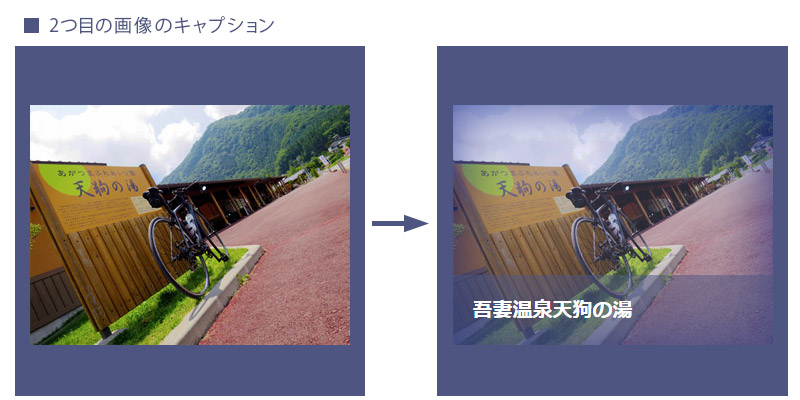 jQueryで画像とキャプションの表現方法!2